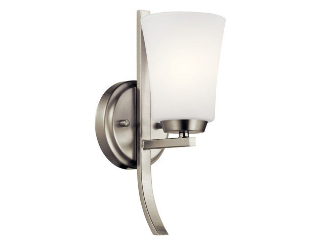 Tao 1 Light Wall Sconce Brushed Nickel