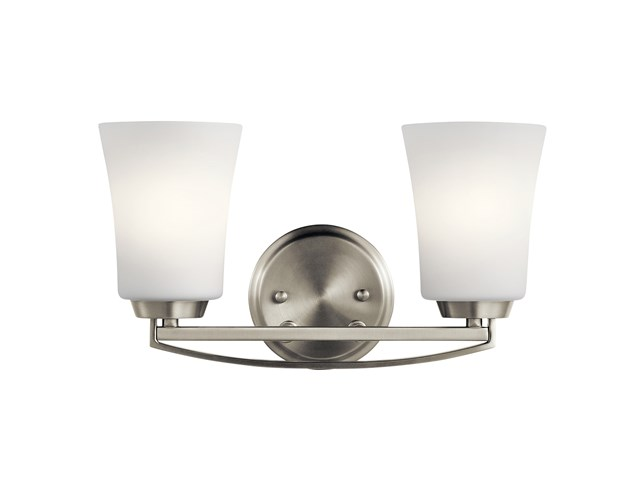 Tao 2 Light Vanity Light Brushed Nickel