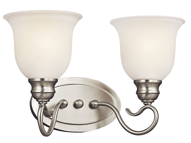 Tanglewood™ 2 Light Vanity Light Brushed Nickel