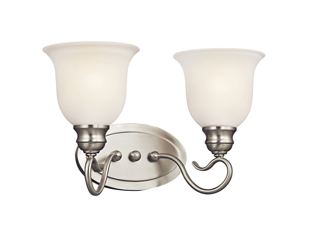 Tanglewood™ 2 Light LED Vanity Light with LED Bulbs Brushed Nickel