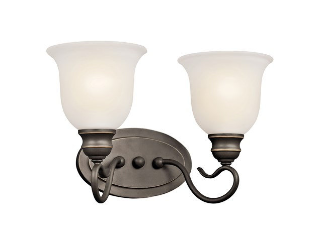 Tanglewood™ 2 Light Vanity Light with LED Bulb Olde Bronze®