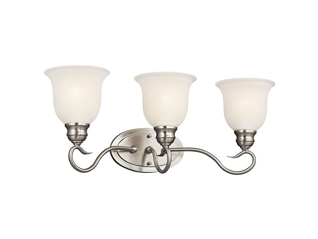 Tanglewood™ 3 Light Vanity Light with LED Bulb Brushed Nickel