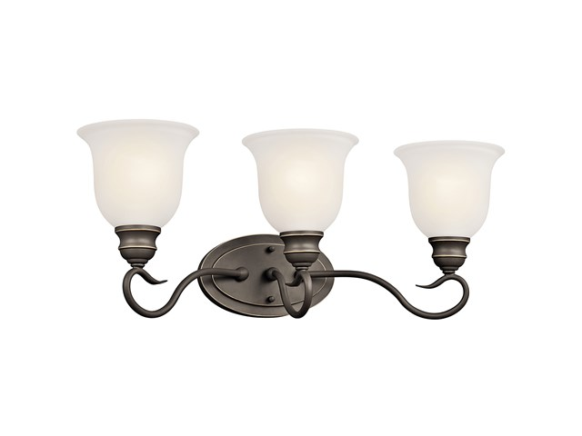 Tanglewood™ 3 Light Vanity Light with LED Bulb Olde Bronze®