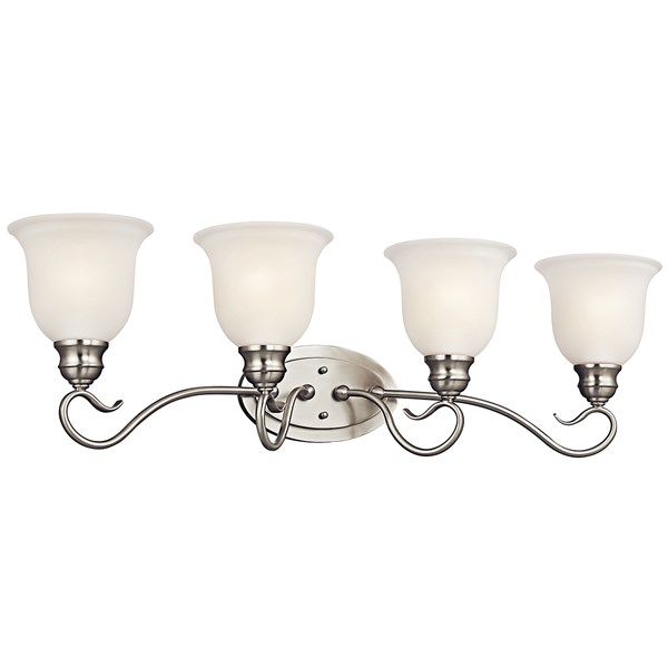 Tanglewood™ 4 Light Vanity Light Brushed Nickel with LED Bulb