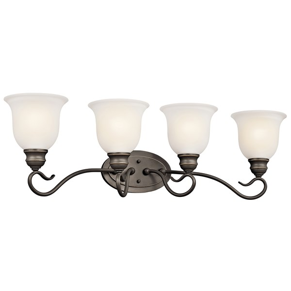 Tanglewood™ 4 Light Vanity Light Olde Bronze® with LED Bulb