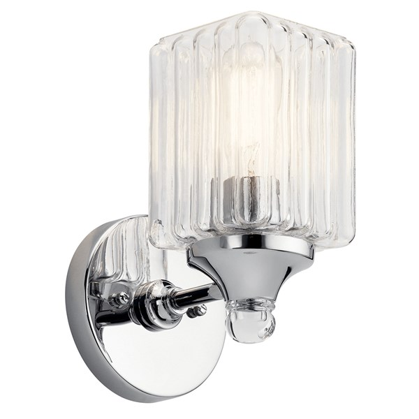 Riviera 1 Light Wall Sconce Chrome