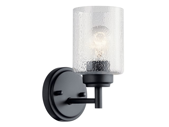 Winslow 1 Light Wall Sconce Black