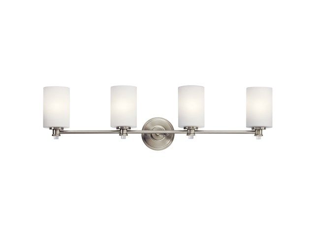 Joelson™ 4 Light Vanity Light with LED Bulbs Brushed Nickel