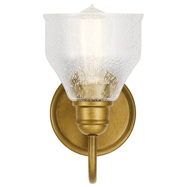 Avery 1 Light Wall Sconce Natural Brass