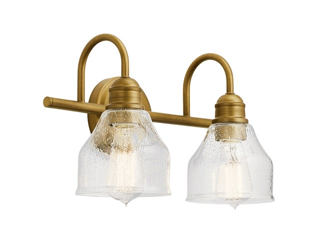 Avery 2 Light Vanity Light Natural Brass