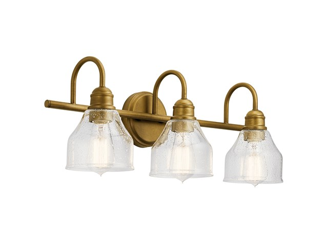 Avery 3 Light Vanity Light Natural Brass