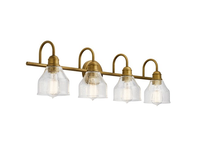 Avery 4 Light Vanity Light Natural Brass