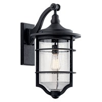 "Royal Marine™ 21.75"" 1 Light Wall Light Distressed Black"