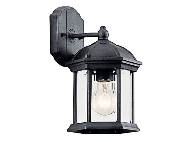 "Barrie™ 10.25"" 1 Light Wall Light Black"