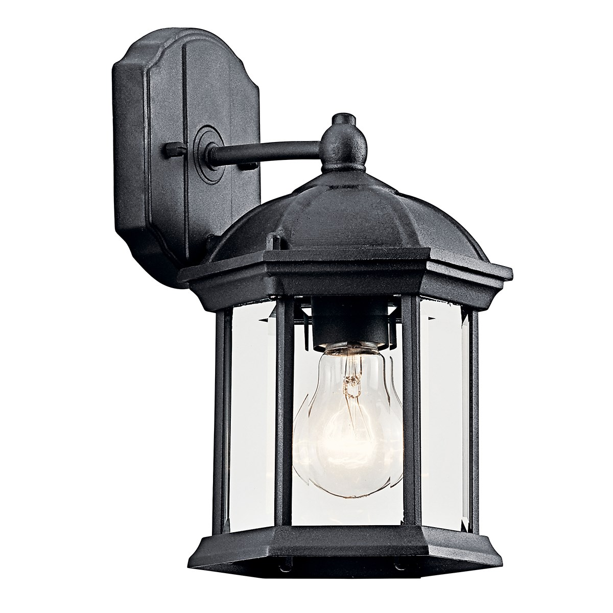 Barrie 10 25 1 light wall light with led bulb black