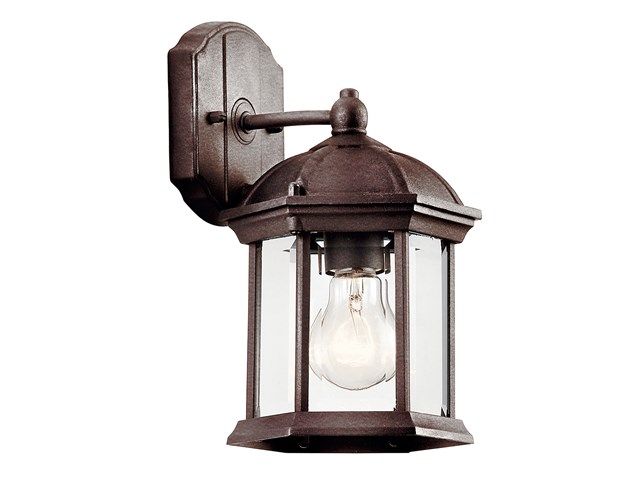 "Barrie™ 10.25"" 1 Light Wall Light with LED Bulb Tannery Bronze™"