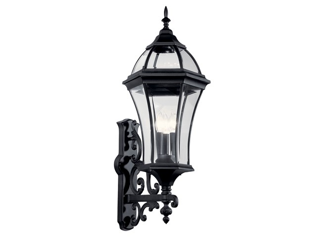 Townhouse 3 Light Wall Light Black