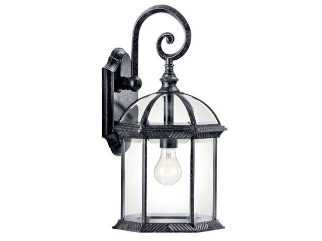 "Barrie™ 18.75"" 1 Light Wall Light Black"