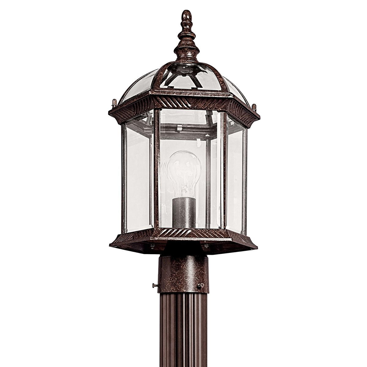Barrie™ 1 Light Post Mount with LED Bulbs Tannery Bronze™