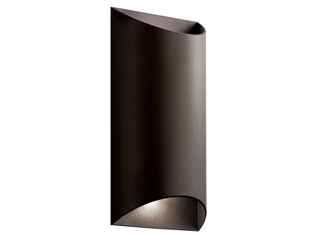 Wesly 2 Light LED Wall Light Textured Architectural Bronze