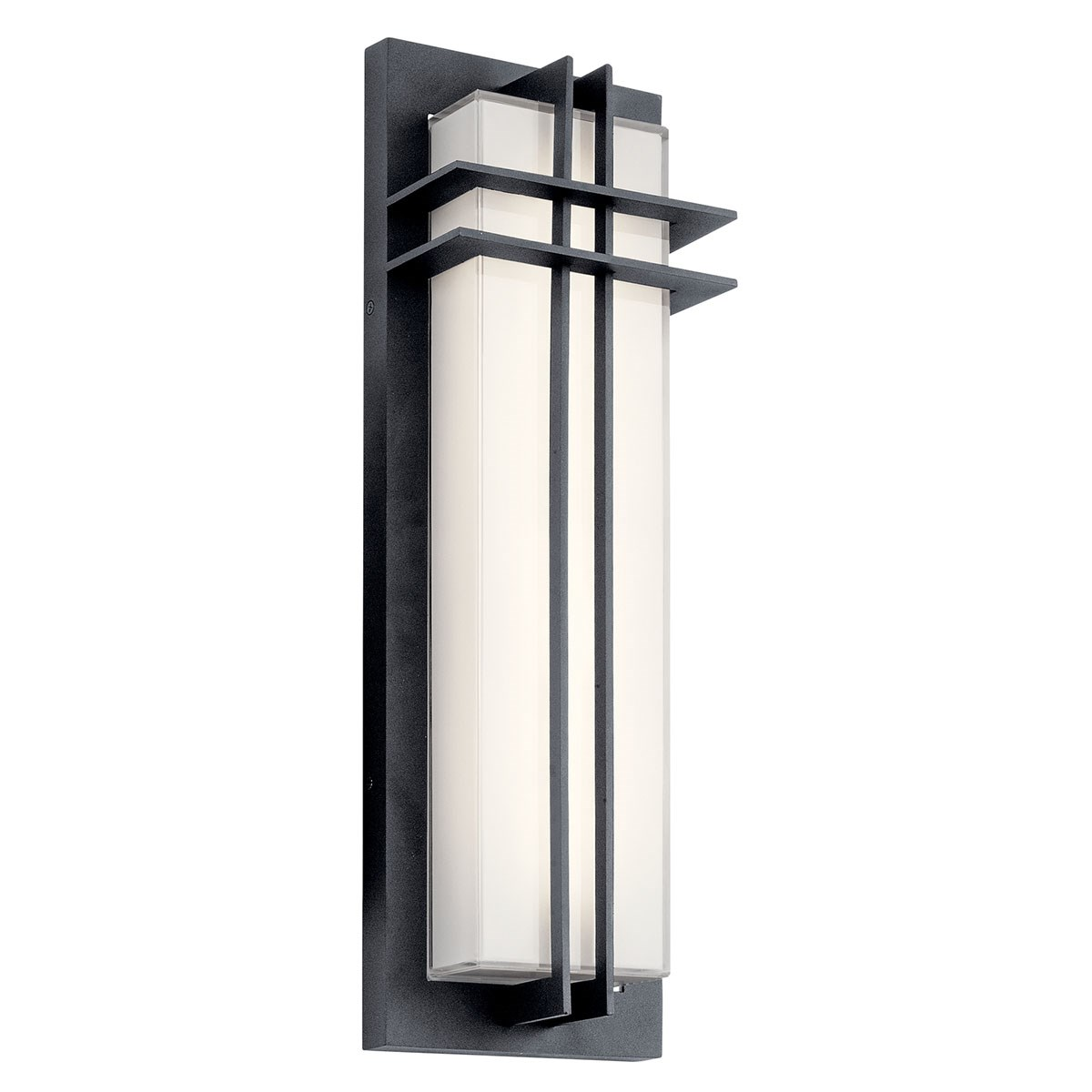 "Www Kichler: Manhattan 22"" LED Wall Light Textured Black"