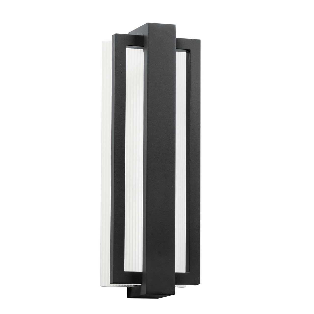 "Sedo 18.25"" 1 Light LED Wall Light Satin Black"
