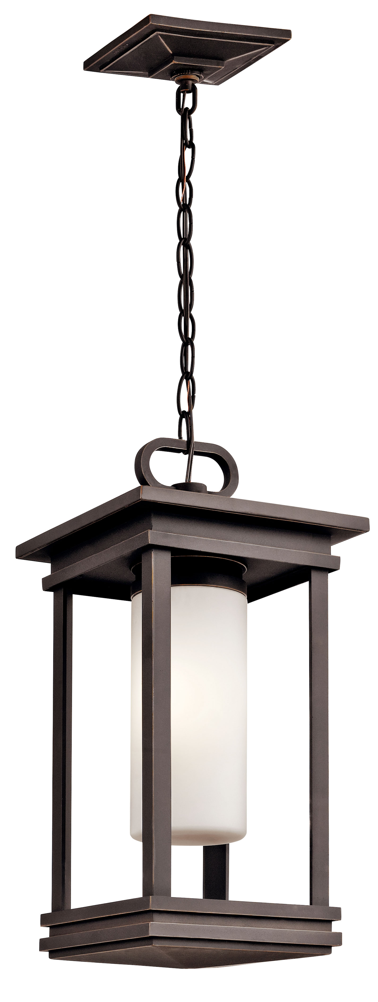 Rubbed Bronze 1-Light Kichler 49473RZLED South Hope Portable LED Lantern with Built-in Bluetooth Speaker