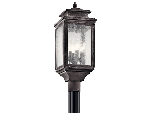 Wiscombe Park™ 4 Light Post Weathered Zinc