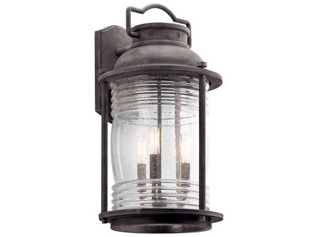 "Ashland™ Bay 21.5"" 3 Light Wall Light Weathered Zinc"