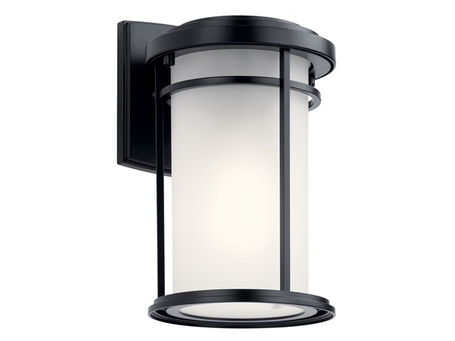 Toman 1 Light Wall Light with LED Bulb Black