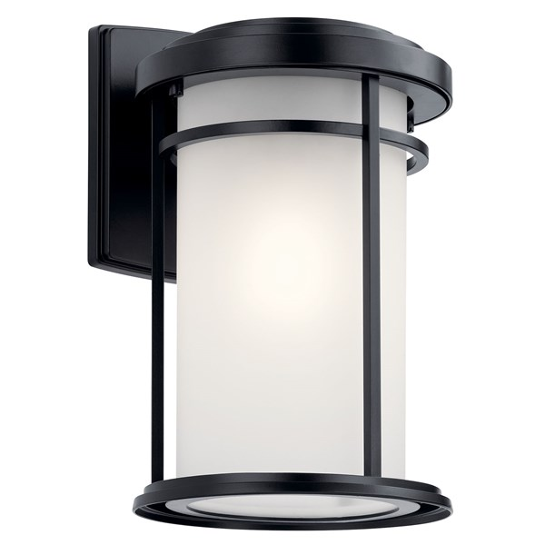 "Toman™ 13.5"" 1 Light Wall Light Black"