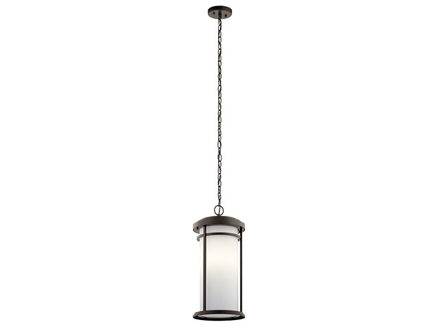 "Toman™ 10"" 1 Light Pendant with LED Bulb Olde Bronze®"