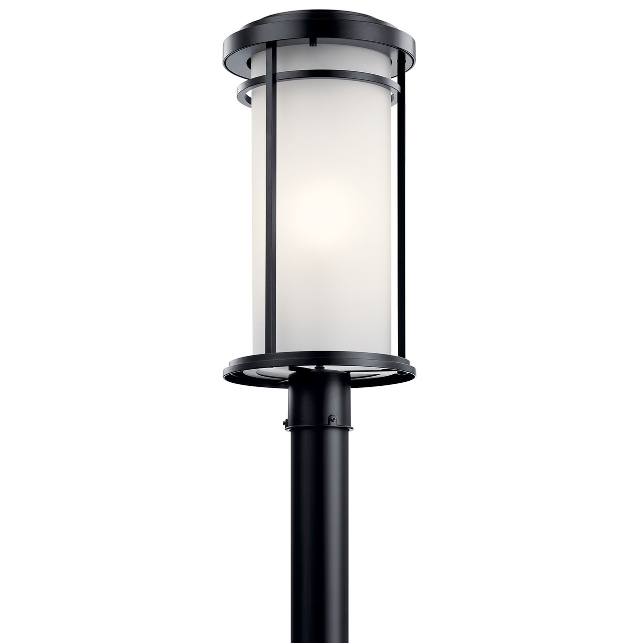 Toman™ 1 Light Post Mount Black