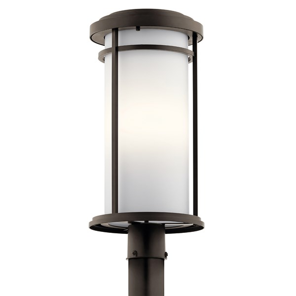 Toman™ 1 Light Post Mount with LED Bulbs Olde Bronze®