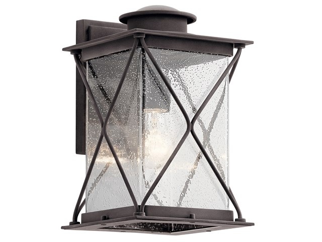 "Argyle 12.75"" 1 Light Wall Light with LED Bulbs Weathered Zinc"