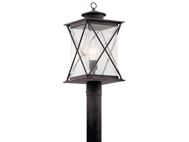 Argyle 1 Light Post Light with LED Bulb Weathered Zinc
