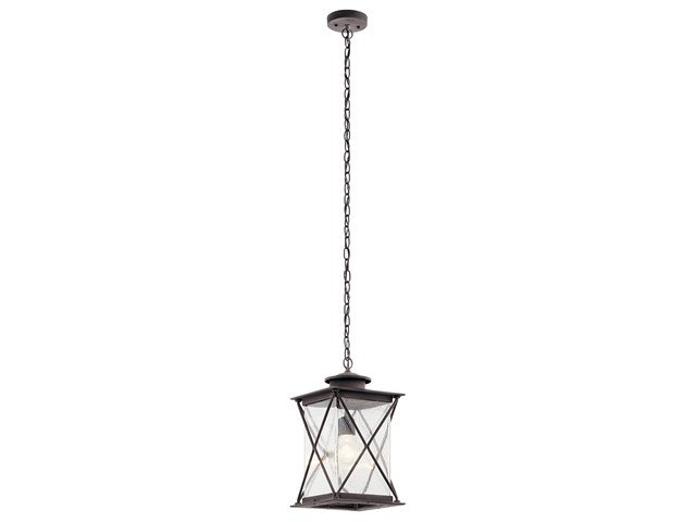 Argyle 1 Light Pendant with LED Bulb Weathered Zinc