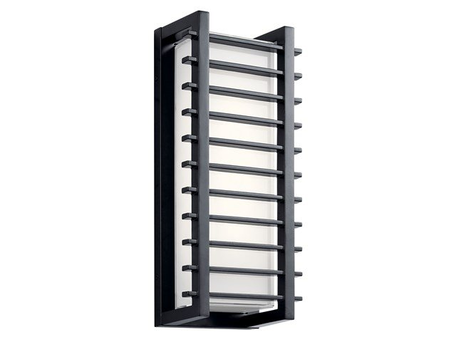 "Rockbridge™ 16"" 2 Light LED Wall Light Black"