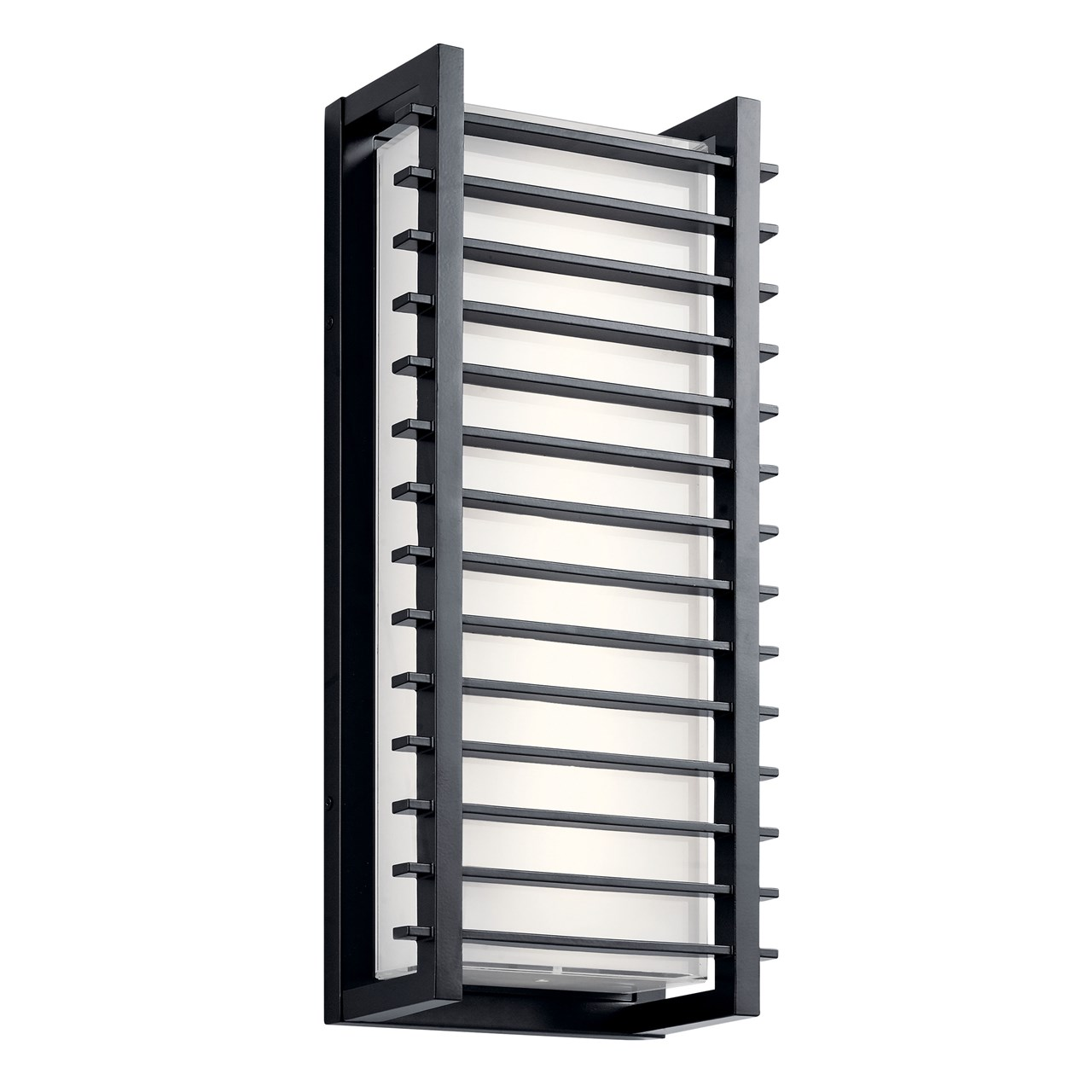 "Rockbridge™ 21"" 2 Light LED Wall Light Black"