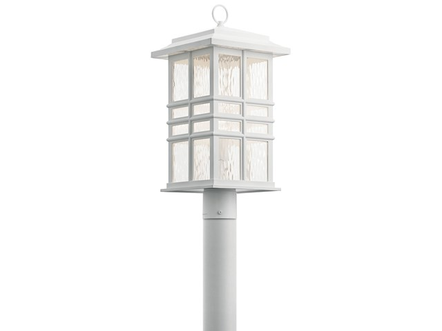 Beacon Square™ 1 Light Post Mount White