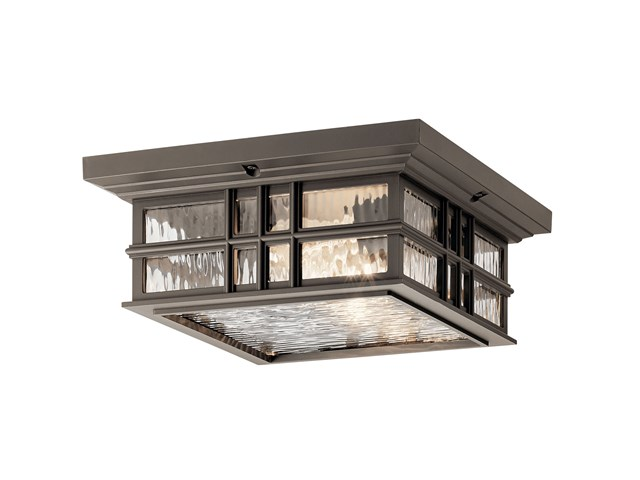 Beacon Square™ 2 Light Flush Mount Olde Bronze®