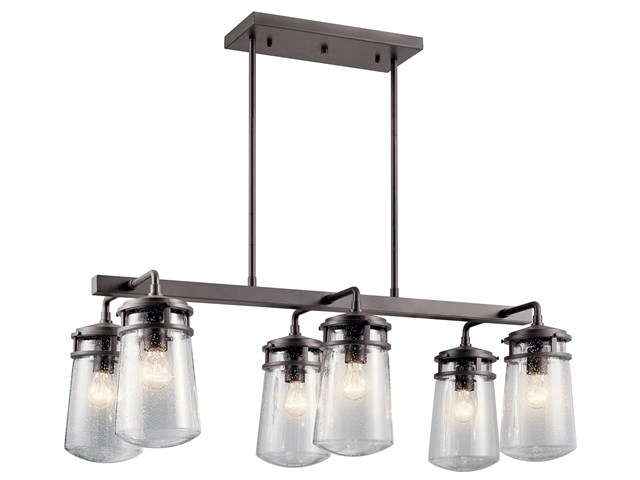 Lyndon™ 6 Light Linear Chandelier Architectural Bronze