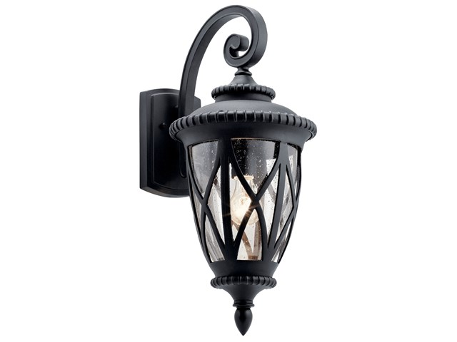 Admirals Cove™ 1 Light Wall Light Textured Black