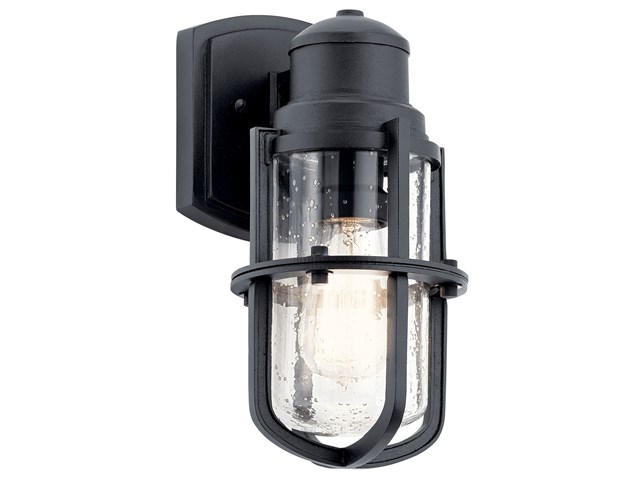 "Suri 11"" 1 Light Wall Lantern Textured Black"
