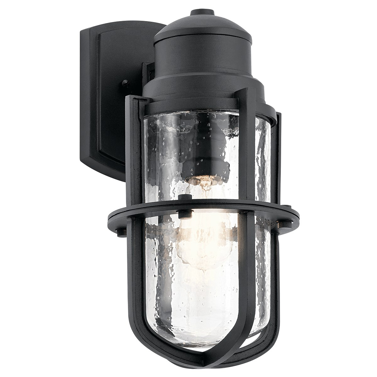 "Suri 15"" 1 Light Wall Light Textured Black"
