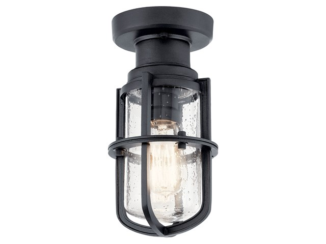 Suri 1 Light Flush Mount Textured Black