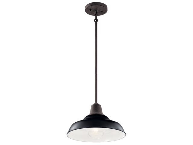 "Pier 1 Light 12"" Convertible Pendant Black"