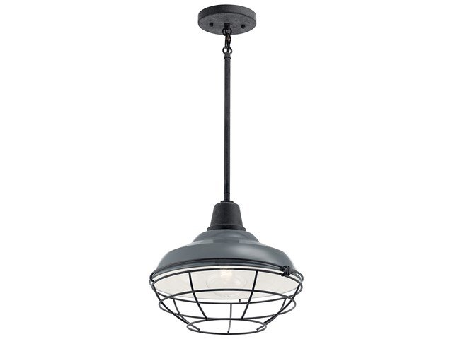 "Pier™ 1 Light 12"" Convertible Pendant Gloss Grey"