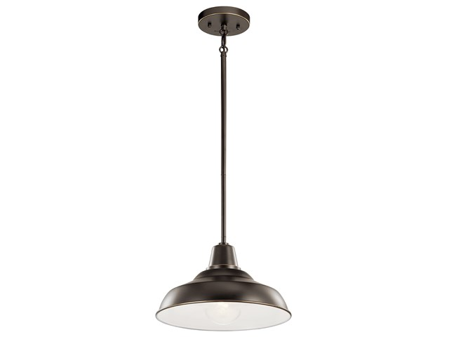 "Pier 1 Light 12"" Convertible Pendant Olde Bronze"