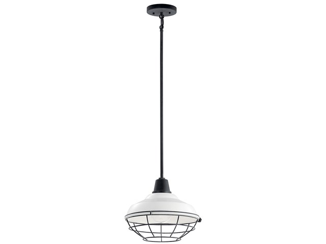 "Pier™ 1 Light 12"" Convertible Pendant White"